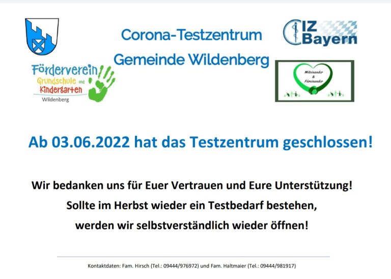 Corona-Testzentrum_Öffnungszeiten ab 20.09.21